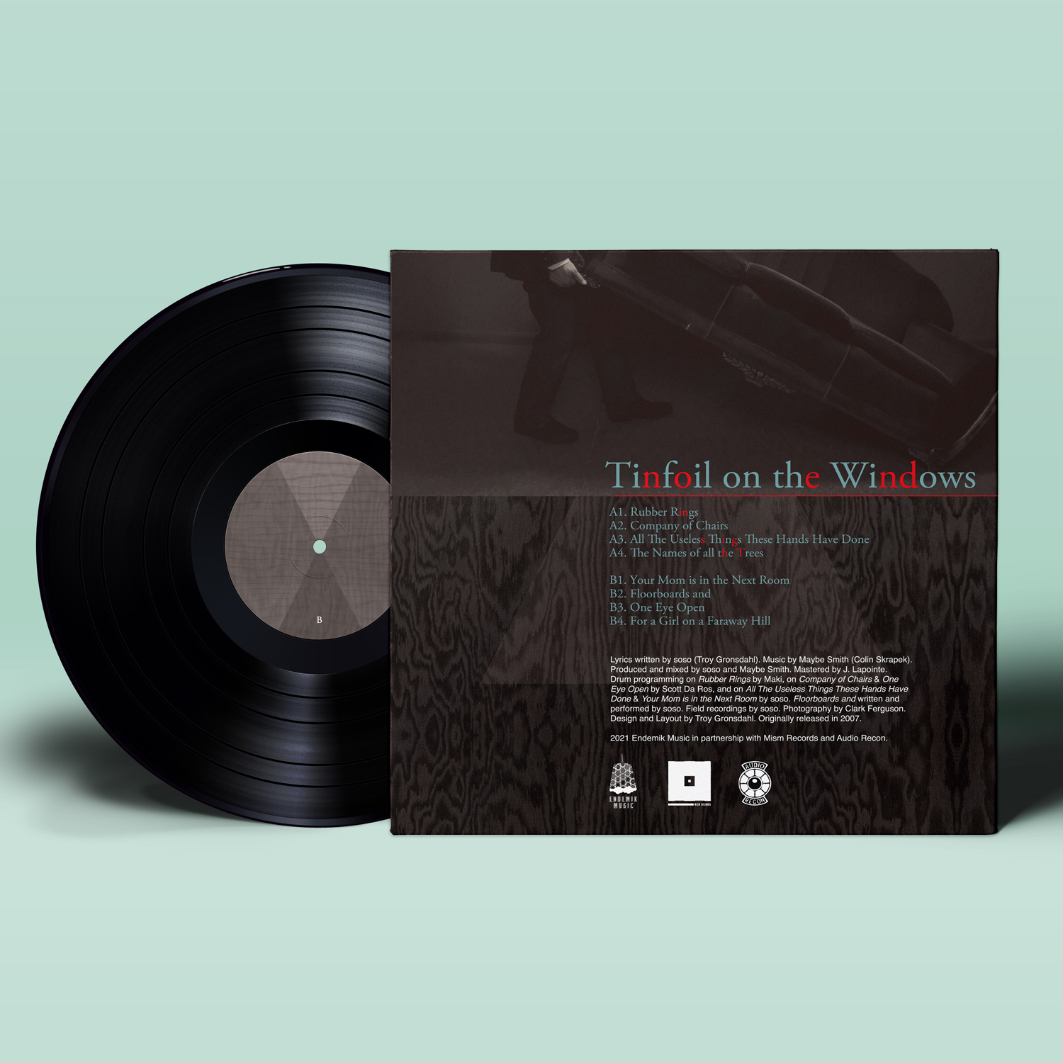 soso - Tinfoil on the Windows - Vinyl Mockup - Back