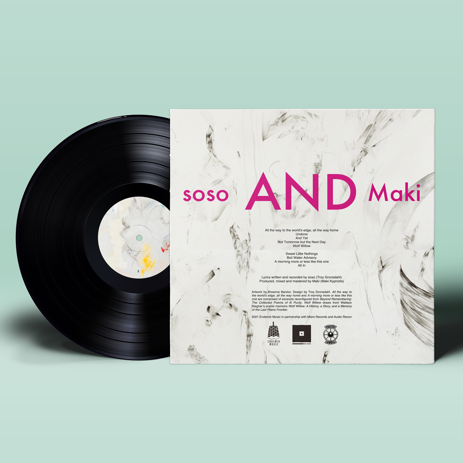soso - If and Only If - Vinyl Mockup - Back